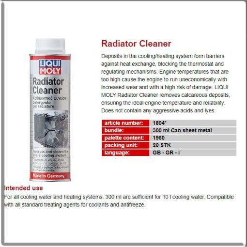 vệ sinh két nước làm mát ô tô xe máy liqui moly radiator cleaner 1804 - phongson.com