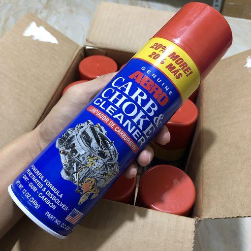 Vệ sinh bình xăng con Abro carb & Choke cleaner 340g