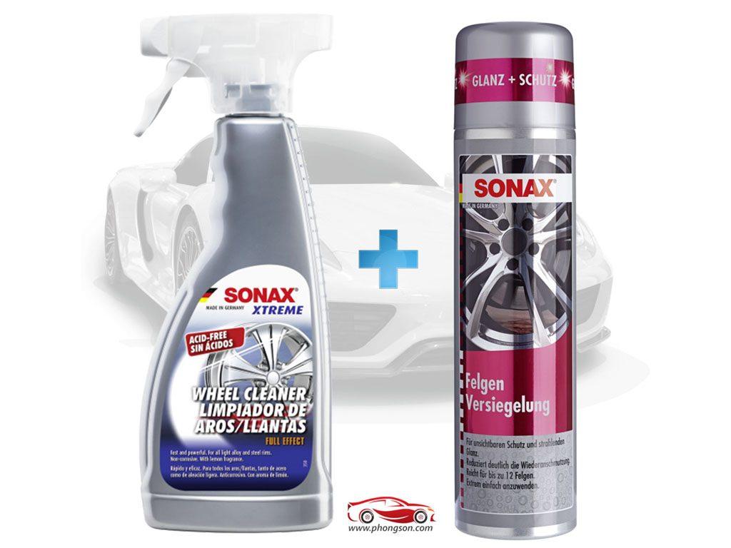 Bộ sản phẩm chăm sóc vành xe ô tô cao cấp Sonax Xtreme - phongson.com