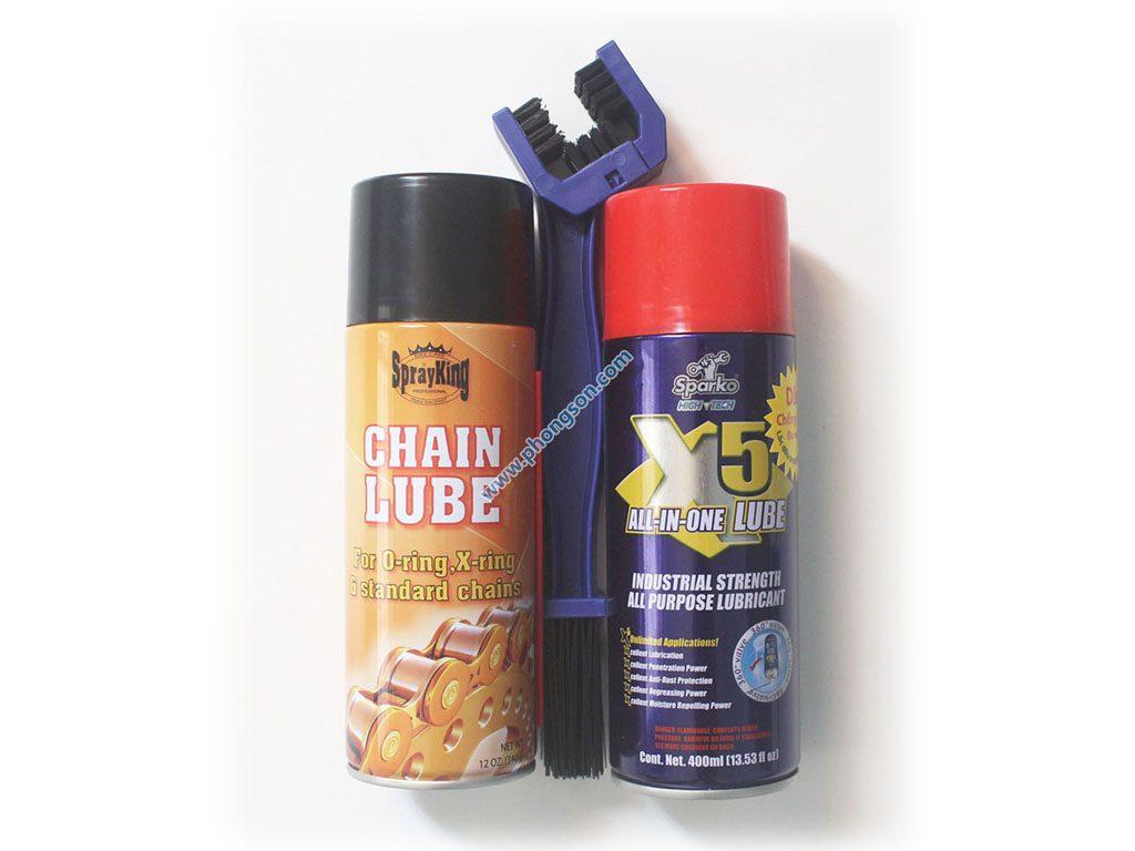 Bộ sản phẩm chăm sóc và dưỡng sên (xích) chuyên nghiệp XM03001