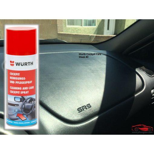 làm sạch và bảo dưỡng táp lô Wurth Cockpit Cleaning and Care Spray - phongson.com
