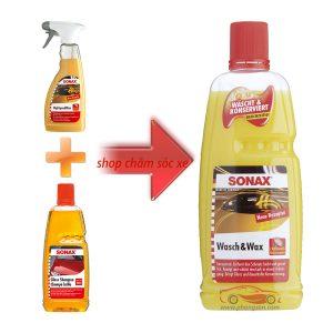 Nước rửa  xe kết hợp bóng sơn 2 trong 1 Sonax Wash & Wax