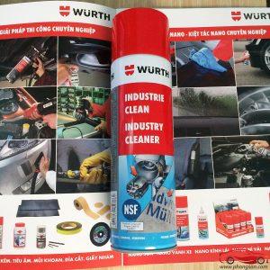 tẩy keo, tẩy băng dính dán decal Wurth Industry Clean Cleaner - phongson.com
