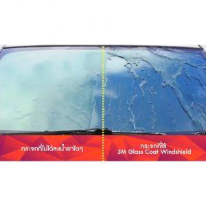 Dung dịch phủ chống bám nước kính 3M Glass Coat Windshield bảo vệ kính luôn trong suốt, chống bán nước, cải thiện tầm nhìn, Lái xe an toàn