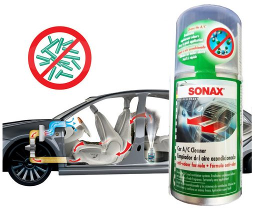 Khử mùi điều hòa Sonax Car AC cleaner counter display 323100 100ml