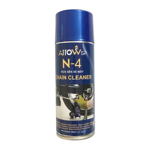 Chai rửa sên (xích) xe máy Arrow N-4 Chain Cleaner 400ml - phongson.com