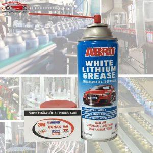 Chai xịt mỡ bò nước Abro White Lithium Grease 284g - phongson.com