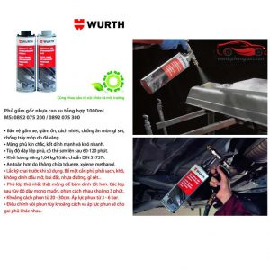 Sơn phủ gầm xám Wurth Gravel throw & underbody protection Grey 1000ml - phongson.com