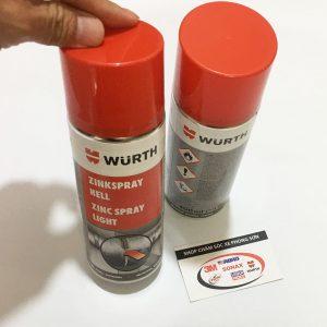 chai xịt sơn mạ kẽm chịu nhiệt wurth zinc spray 0893113114 - phongson