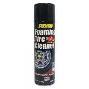 Chai Xịt Bọt Làm Sạch Và Bảo Dưỡng Lốp Vỏ Xe Abro Foaming Tire Cleaner 595g