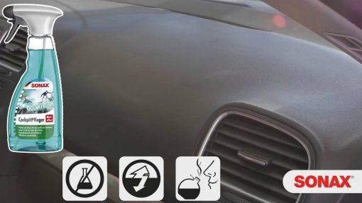 Bảo dưỡng nhựa trong xe ô tô Sonax Cockpit Spray Matt Effect 364241 500ml
