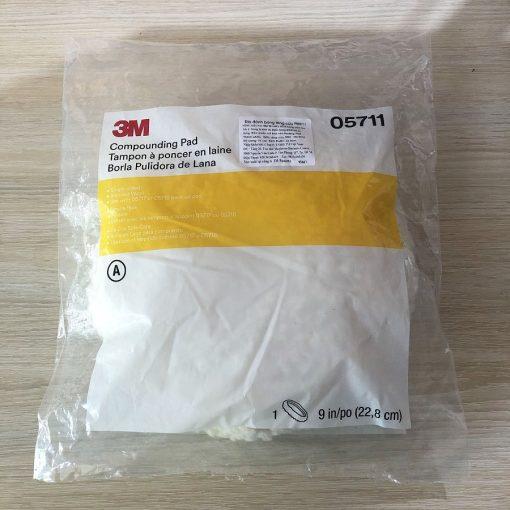 Phớt Pad lông cừu 3M 05711 9in Compounding Pad (1 mặt)