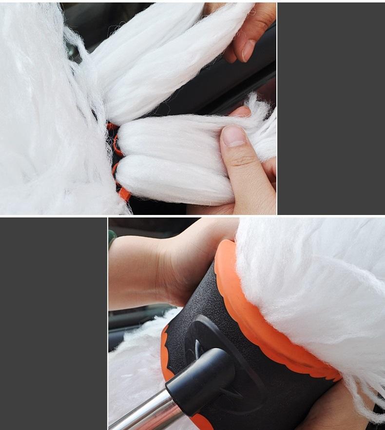 Cây rửa xe ô tô cán dài CWLH lông mềm 125cm