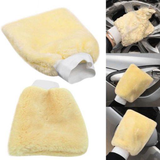 Găng tay rửa xe lông cao sợi tổng hợp (24cm*16cm)
