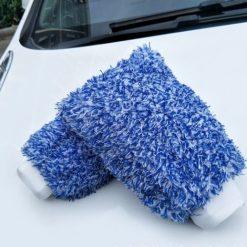 Găng tay rửa xe sợi nhung san hô