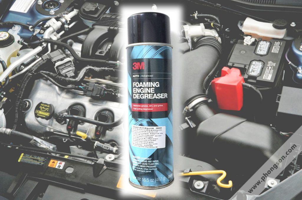 Vệ sinh động cơ khoang máy xe ô tô 3M Foaming Engine Degreaser - phongson.com