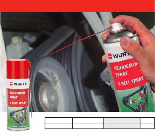 Bảo dưỡng dây curoa Wurth V-Belt Spray - phongson.com