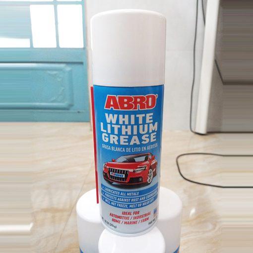 Chai xịt mỡ bò nước Abro White Lithium Grease 284g
